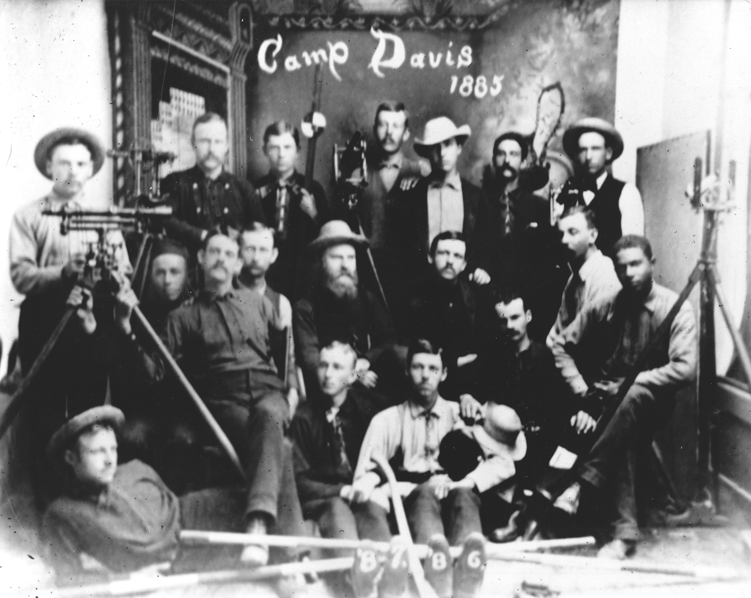 The Camp Davis attendees of 1885.