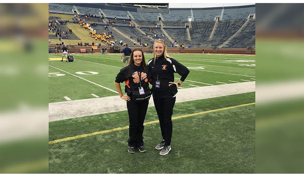 2 Females On The Field At Michigan Stadium MedSport Gatewayextension