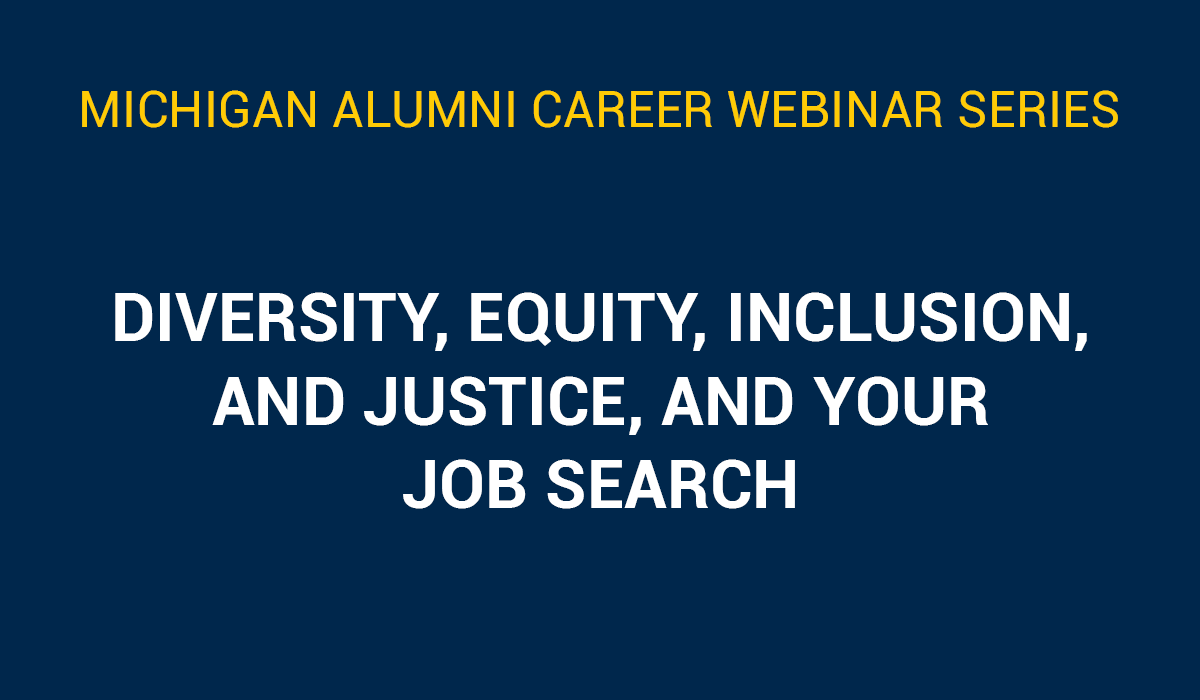 Diversity, Equity, Inclusion, and Justice, and Your Job Search