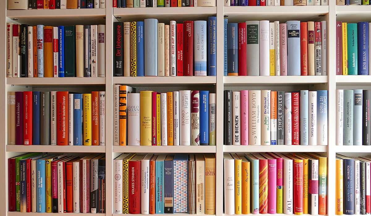 Library: View Of Colorful Rows Of Books