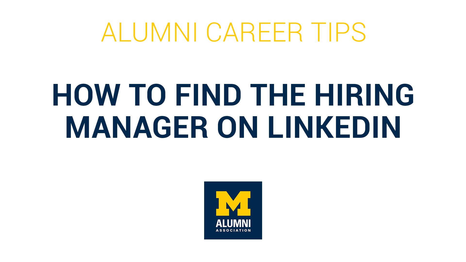Finding the Hiring Manager on LinkedIn