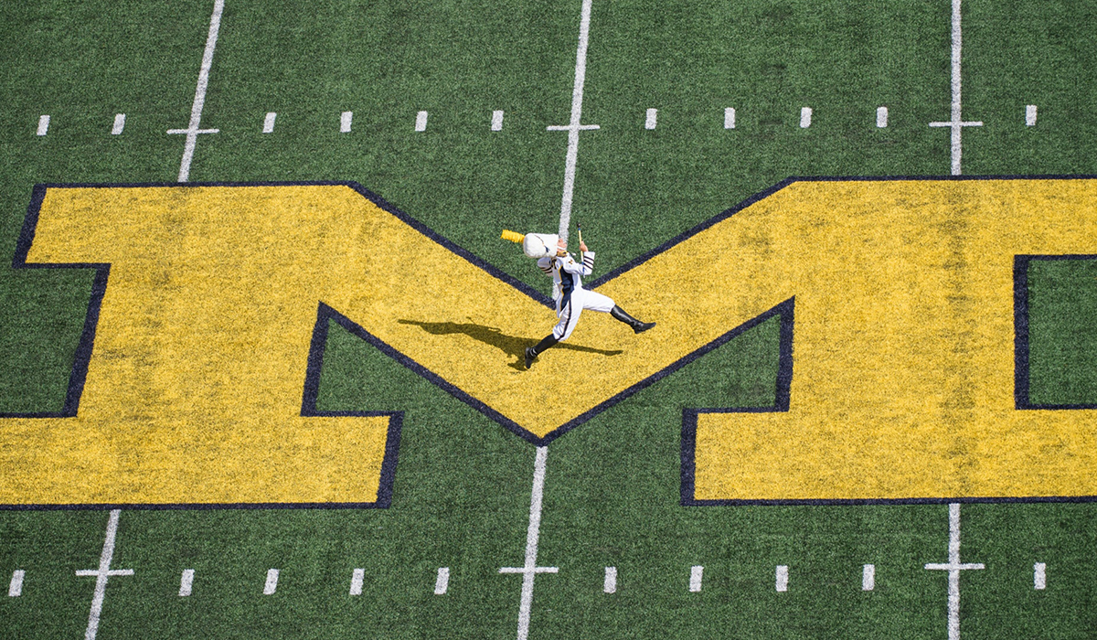 Drum major of the Michigan Marching Band at Michigan Stadium