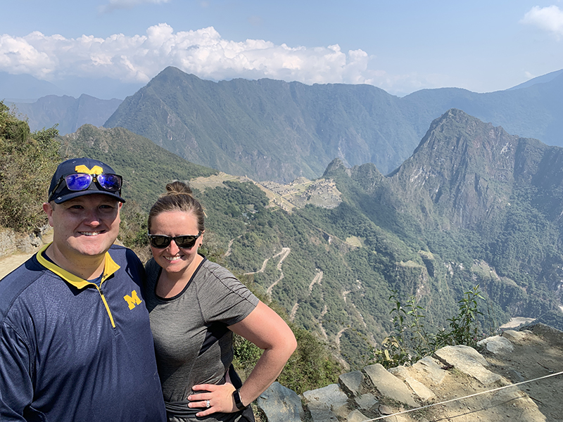 Andrew Humes, '10, MS'12, visited Machu Picchu.