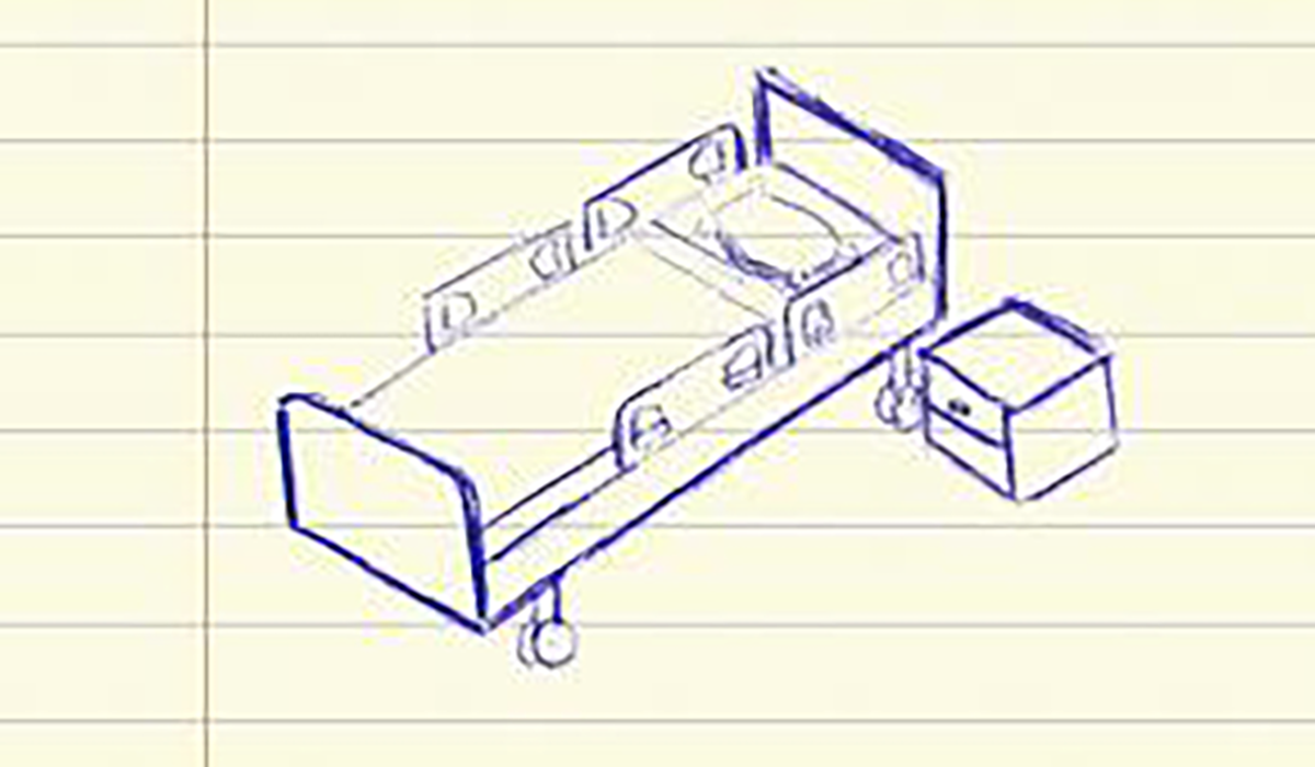 Lab Notes Hospital Bed With Table Gatewayextension