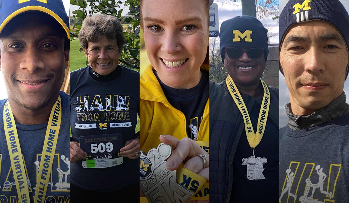 5 Alumni Participants of the Hail From Home 5k Event in 2020