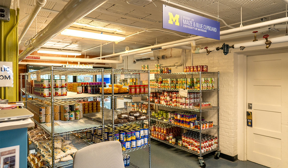 Maize And Blue Cupboard