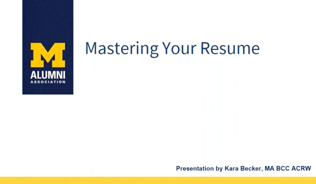 Mastering Your Resume
