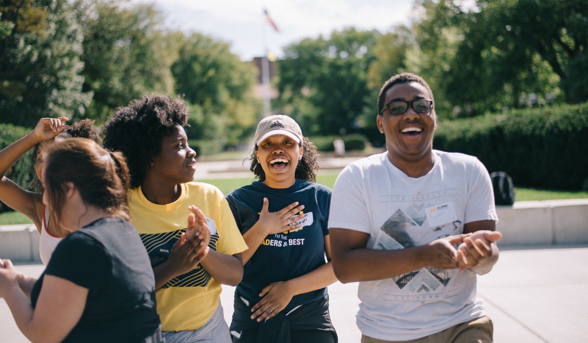 LEAD Scholars on the campus of the University of Michigan