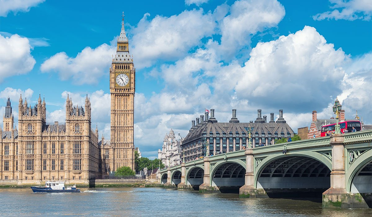 Big Ben and the River Thames in London, England