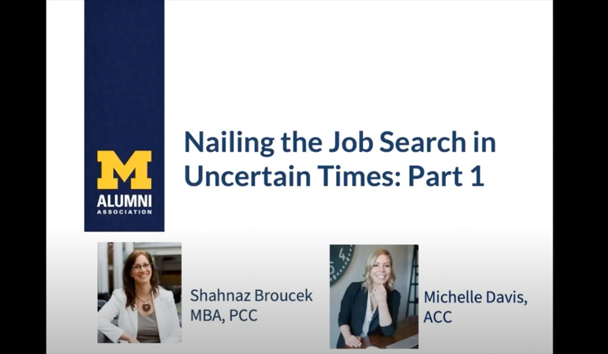 Nailing the Job Search in Uncertain Times: Part 1