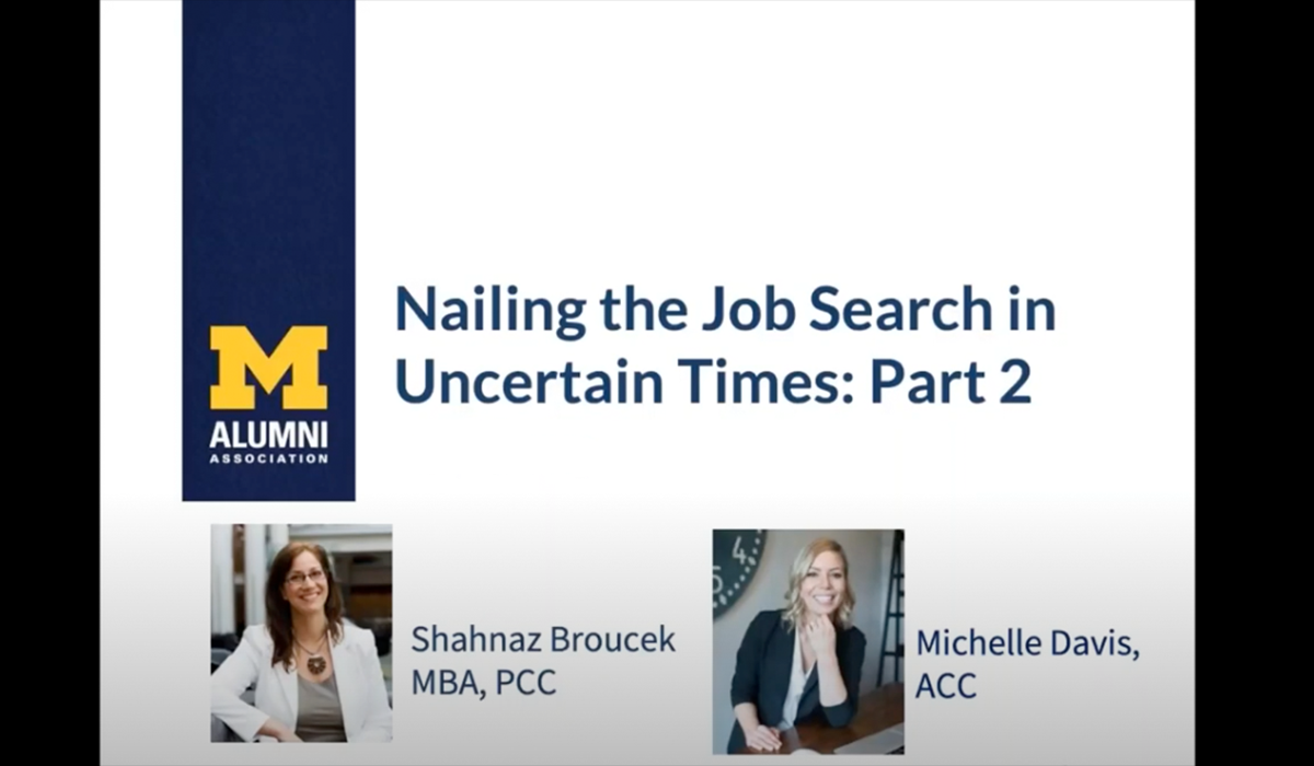 Nailing the Job Search in Uncertain Times: Part 2