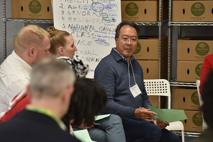 Yo-Yo Ma took part in the working session, discussing with local leaders ways that culture might raise all voices in Flint and build a more inclusive, healthy, and vibrant city.