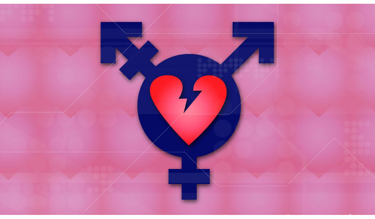 Pink Broken Heart Transgender Symbol Gatewayextension