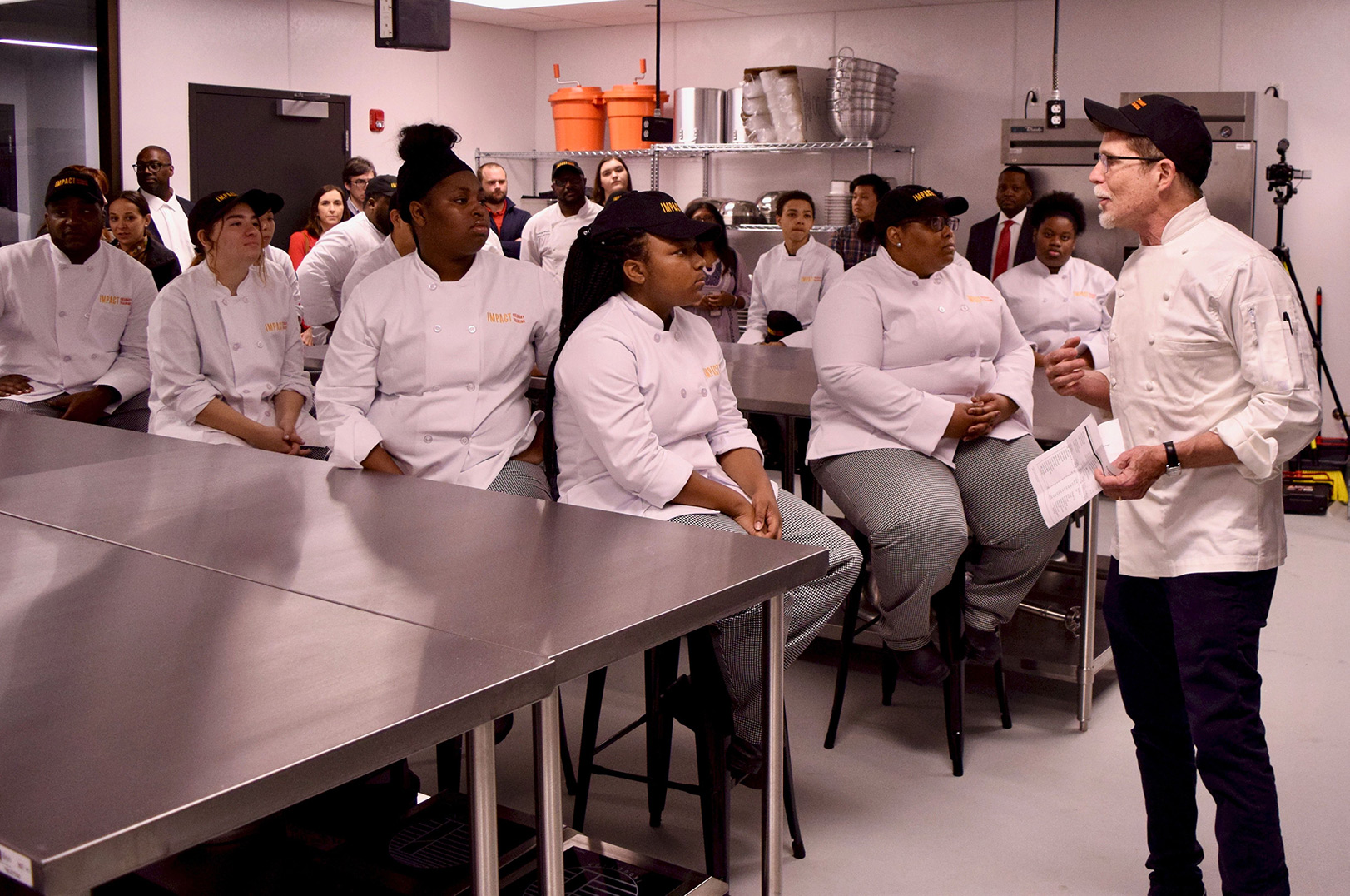 Rick Bayless with Students