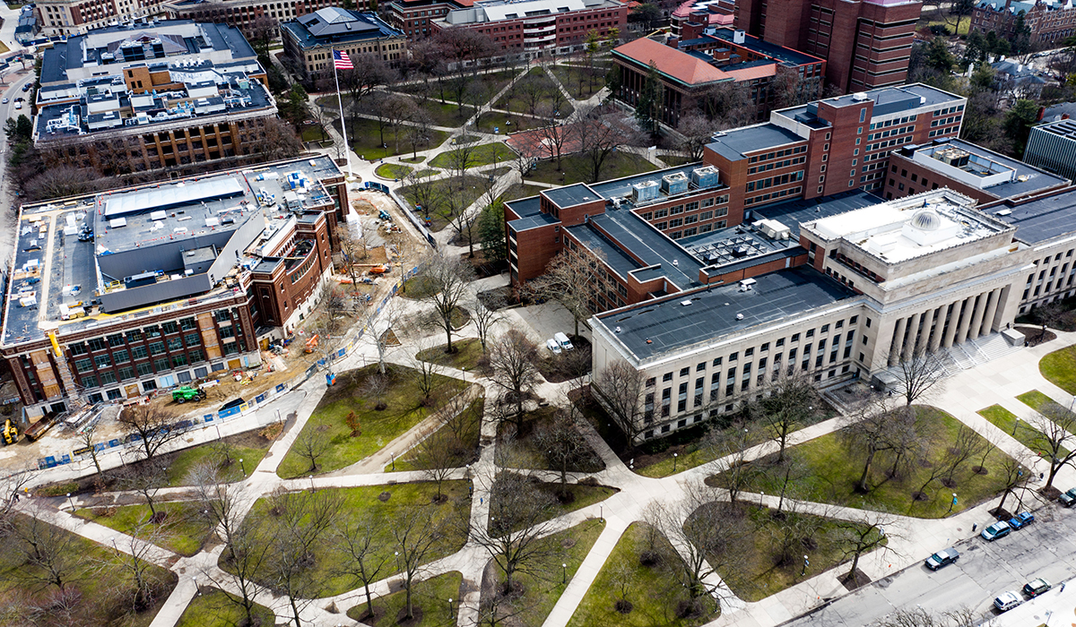 Drone Shots Show Ann Arbor Empty After COVID 19 Outbreak