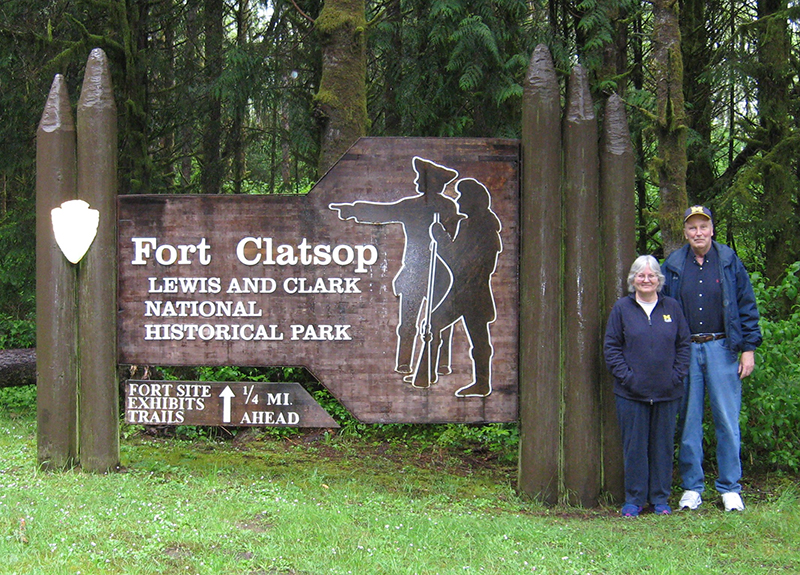 Fred, '71, MSE'72, and Sue Schriever, '72, visited the Lewis and Clark National Historical Park near Astoria, Oregon. The trip was particularly meaningful as it marked their 280th visit to a national park and their 50th state.