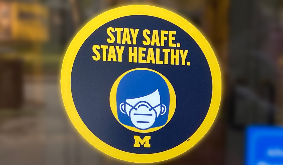 Haven Hall 'Stay Safe. Stay Healthy.""
