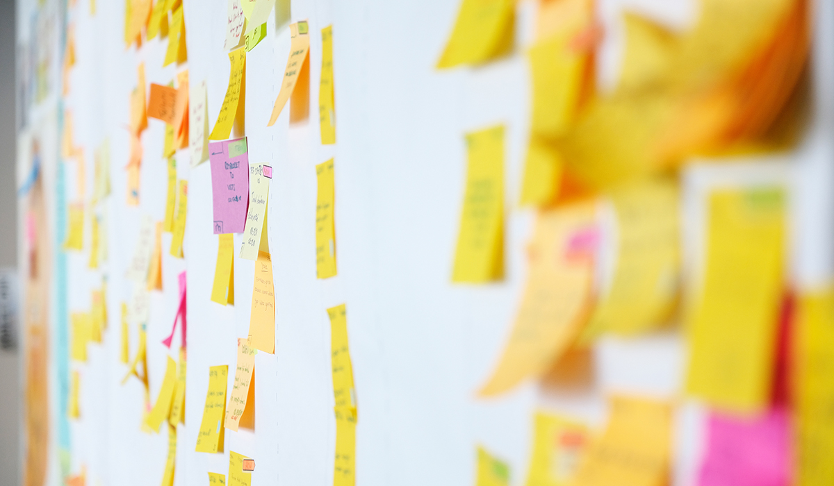 Project Planning, Sticky Notes