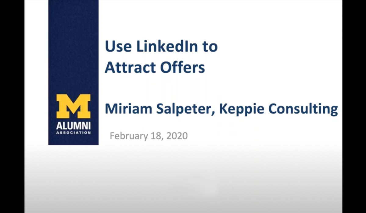 Use LinkedIn To Attract Offers