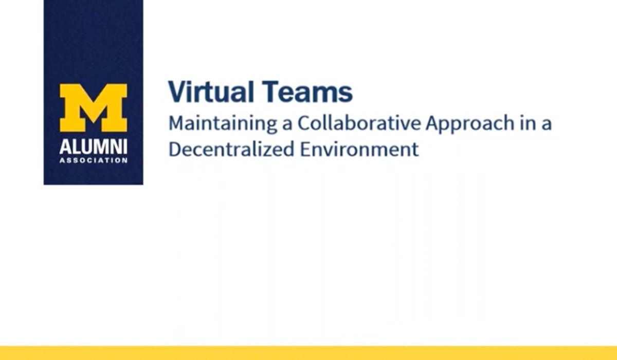 Virtual Teams: Maintaining a Collaborative Approach in a Decentralized Environment