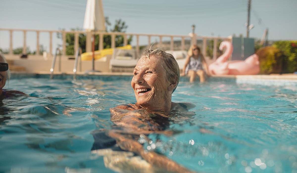 Senior Woman Enjoying Summer Vacation