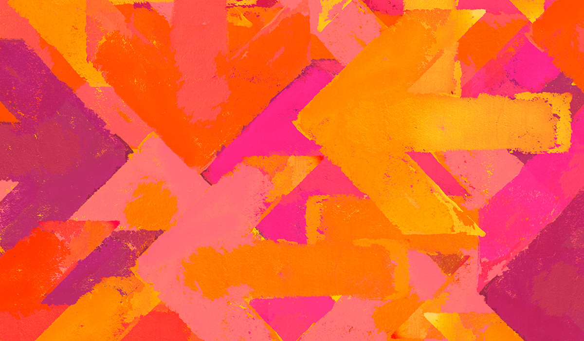 Artistic Grunge Arrows Background In A Warm Colors