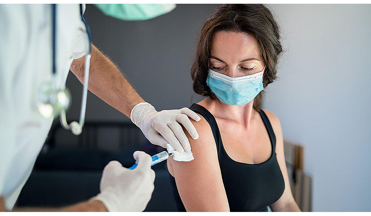 White Woman Getting Vaccine