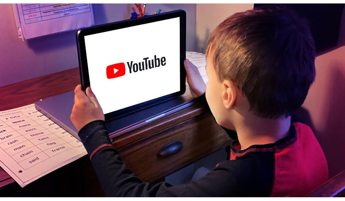 Young Boy Watching Youtube On Tablet In Room Gatewayextension